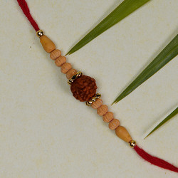 Rudraksh and Beads Studded Rakhi