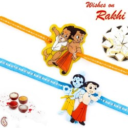 Set of 2 Embellished Band Krishna and Balram Kids Rakhi