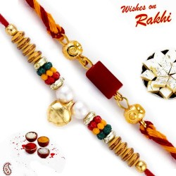 Set of 2 Handcrafted Premium Rakhi