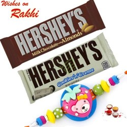 Set of 2 Hershey's Delicious Chocolates with Kids Rakhi