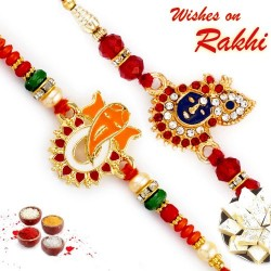 Set of 2 Red Holy Rakhi