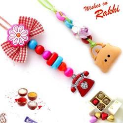 Set of 2 Telephone and Handbag Motif Rakhi