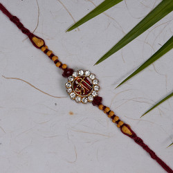 SHREE Motif Rakhi with AD and Beads