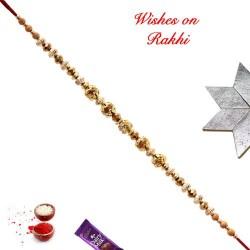 Simple Beads and American Diamonds Rakhi