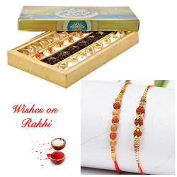 Special Kaju Mix Sweets with Set of 2 Handcrafted Rakhis