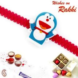 Sweet Doremon Red Band Kids Rakhi