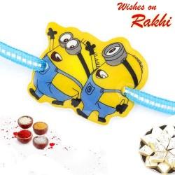 Twin Minions Blue Band Kids Rakhi